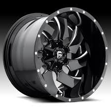 100 20 Inch Truck Rims Fuel D239 Cleaver 2PC Gloss Black Milled Custom Wheels
