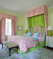 Pink and Green Girl s Bedding Contemporary girl s room Tobi