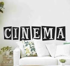 kino aufkleber wohnzimmer mit text
