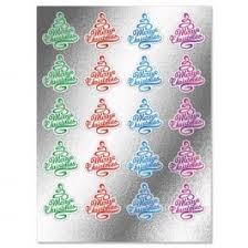 Foil Christmas Tree Envelope Sticker Seals