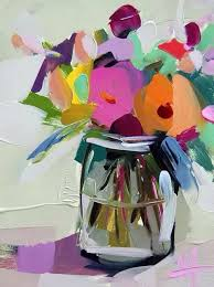 Country Flowers In Jar Original Still Life Oil Painting By Angela Moulton 6 X 8 Inch On Panel Ready To Ship Sept 12 Tami