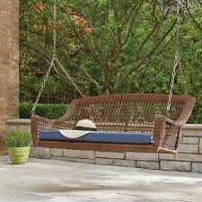 Outdoor Bench Cushions Home Depot by Porch Swing Cushions Included The Home Depot