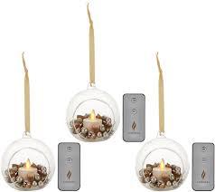 Glass Blown Pumpkins Seattle by Luminara S 3 Blown Glass Ornaments With Flameless Tealight Candle
