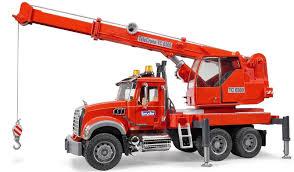 100 Bruder Mack Granite Liebherr Crane Truck Toys Kids MACK With Light And Sound