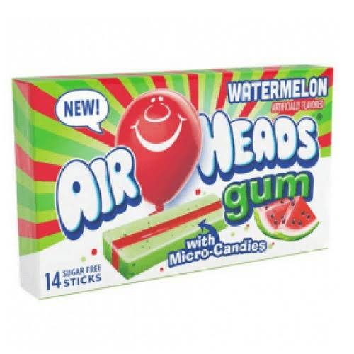Airheads Gum, Watermelon - 14 sticks
