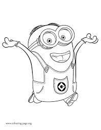 Dave Is An Intelligent And Funny Minion Have Fun Coloring This