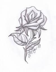 Easy Pencil Drawings Of Roses And Hearts Heart Drawing