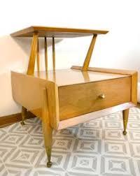 Kent Coffey Signet Dresser by 1950s Vintage Danish Modern Teak Floating Nightstand Tables Mid