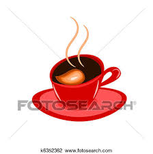 Abstract Espresso Coffee Vector Illustration In Red Cup
