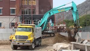 100 Blue Dump Truck Excavator Loading Youtube Inside Excavator Youtube