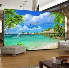 3d fototapete strand meerblick kokospalmen landschaft