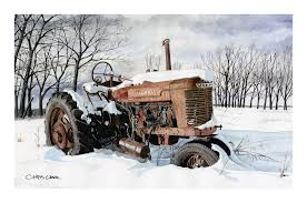 100 Trucks In Snow Tractors More CHRIS CARR WATERCOLORS