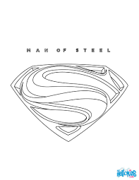SUPERMAN Online Coloring Page