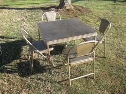 Best 1950's Card Table & Four Chairs For Sale In Hendersonville ... Adams Northwest Estate Sales Auctions Lot 85 Nice Cosco Card Table With Padded Chairs Best Home Chair Decoration Fniture Using Cheap Folding For Pretty Meco Sudden Comfort Deluxe Double And Back 5 Piece Lifetime Contemporary Costco Indoor And 7733 2533 Vtg Retro Samsonite 4 Set 30 Round Leather Top Poker Mahogany Games Flip With Traditional For The Rare Arts Crafts Game Attractive 5piece Black Portable Set37557blke The