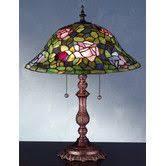Wayfair Tiffany Table Lamps by Tiffany Lampe De Table Avec 2 Lampes Et Abat Jour En Verre Art