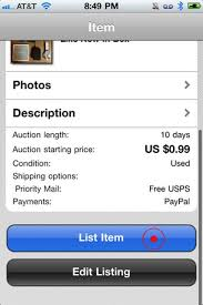 Ebay Item Description Template Visual Guide To Selling Using S IPhone App