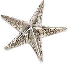 brillibrum design metallfigur seestern versilbert dekofigur silber tischdeko groß meerestier dekoration badezimmer