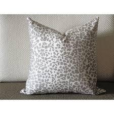 coffee Leopard Linen Print Pillow Cover 18x18 20x20 22x22 24x24 26x26 cotton linen pillow covers 368
