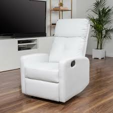 Rocker Recliners : Teyana White Leather Recliner Club Chair Simple ... Small Upholstered Chair For Bedroom Beach Inspired Crystal King Fniture Chaise Accent Brown Velour Soft Touch Vanilla Swivel Recliner Good Fit For Spaces Best Chairs With Ottoman Leather Club And Cool Rocker Recliners Teyana White Simple Designs Vint Girl Master Dresser Suite Navy Ding Awesome Wingback C Tufted Set Table Velvet Amazoncom Button Back Armchair High Living Room Statement Armchairs Blue Rh Homepage Makeover Before Sitting Chairs Small Rooms Living Room Elites Home Decor