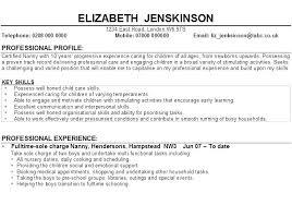 Resume Child Care Worker Skills New Epic