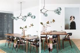 Lindsey Adelman Branching Chandelier Regan Baker Design In This Impossibly Chic Dining Room