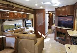 Modern RV Interior Stock Photo