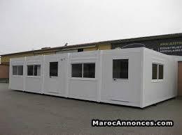 construction modulaire bureau prefabriqué matériaux equipements