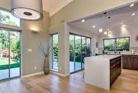 sloped ceilings midcentury kitchen san francisco by bill