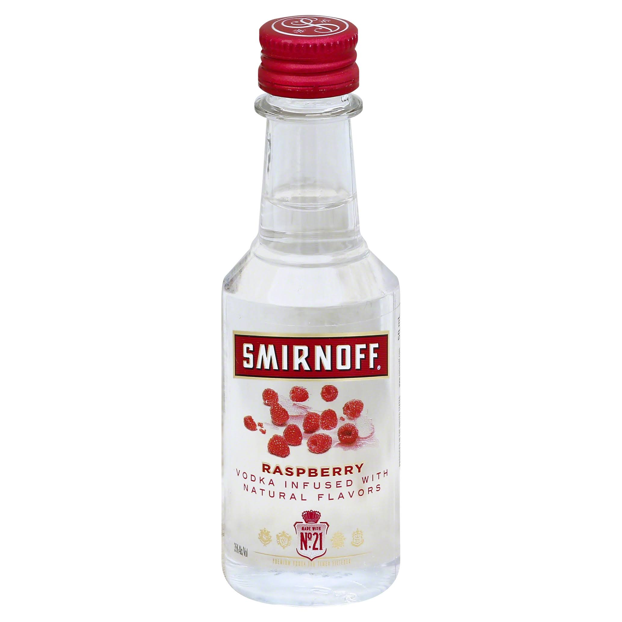 Smirnoff Raspberry Twist Vodka - 50 ml bottle