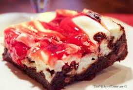 Cherry Marbled Cheesecake Triple Chocolate Brownies 22