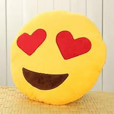 Amazon Leegoal Emoji Smiley Emoticon Yellow Round Cushion