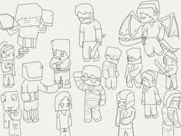 Minecraft SkyDoesMinecraft Coloring Pages