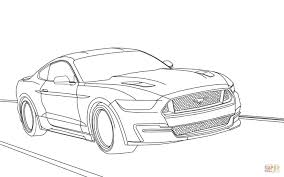 Click The Ford Mustang 2015 Coloring Pages