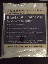 Thinsulate Insulating Curtain Liner Pair by Blackout Liner Curtains Drapes U0026 Valances Ebay