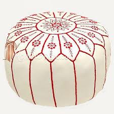 pouf cuir blanc design 28 images pouf de rangement pliable