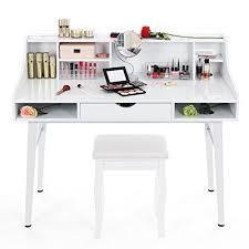 coiffeuse bureau songmics bureau informatique coiffeuse table de maquillage en