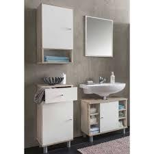 badezimmer einrichtung cadeka in weiß eiche sonoma 4 teilig