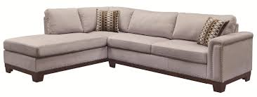 Kenton Fabric Sofa Parchment by Nailhead Sofa With Chaise Tehranmix Decoration