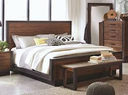 Marson Industrial Style Bedroom Furniture Rustic Finish Bed