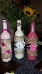 Decorative Wine Bottles Crafts by 580 Best Jars And Bottles Images On Pinterest Decorated Bottles
