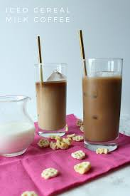 Iced Cereal Milk Coffee Made With Honey Combs