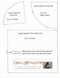 Pattern for Lady Capulet s Me val Cone shaped Hat