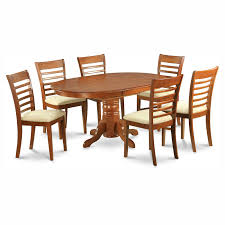 5 Piece Oval Dining Room Sets by East West Furniture Avon 5 Piece Pedestal Oval Dining Table Set
