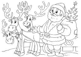 Image Of Reindeer Coloring Pages Christmas