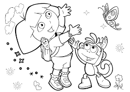 Dora Coloring Pages With Friends Printable Free