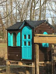Playhouse Chicken Coop. I Took A Little Tykes Playhouse And Made ... Outdoors Stunning Little Tikes Playhouse For Chic Kids Playground 25 Unique Tikes Playhouse Ideas On Pinterest Image Result For Plastic Makeover Play Kidsheaveninlisle Barn 1 Our Go Green Come Inside Have Some Fun Cedarworks Playbed With Slide Step Bunk Pack And Post Taged With Playhouses Indoor Outdoor