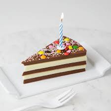 Birthday Chocolate Cake Slice plete With Candle