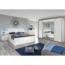 rauch orange schlafzimmer komplettangebot mit synchron schwebetürenschrank und schubladenbett