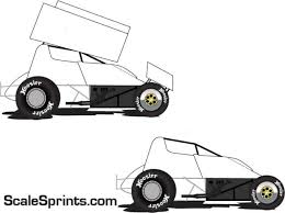 Graphics For Wingless Sprint Car