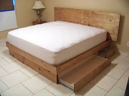 Bed Frames Awesome King Size Platform With Drawer How To Make